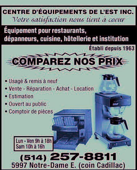 for Equipement restaurant usage